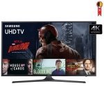 Smart TV LED 50' Samsung UN50KU6000 4K Ultra HD com Wi-Fi 2 USB 3 HDMI Gamefly 120Hz e Motion Rate