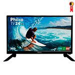 TV LED 24' Philco PH24N91D HD com 1 USB, 1 HDMI, Conversor Digital Integrado e Função Monitor
