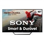 Smart TV LED 40' Sony KDL-40W655D Full HD com Wi-Fi, 2 USB, 2 HDMI, Motionflow 240 e X-Reality PRO