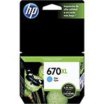 Cartucho Original HP  670XL Ciano CZ118AB